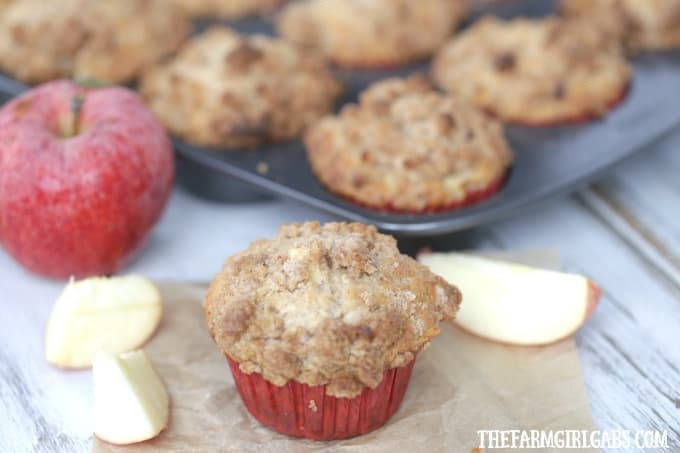 The Best Ever Apple Crumb Muffins