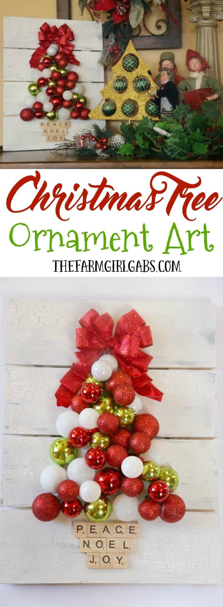 Make it Shine This Holiday Season With The Simple DIY Christmas Tree Ornament Art. This craft project will brighten up your holiday decor.
