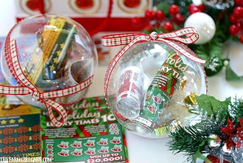 Lottery Ticket Christmas Ornaments