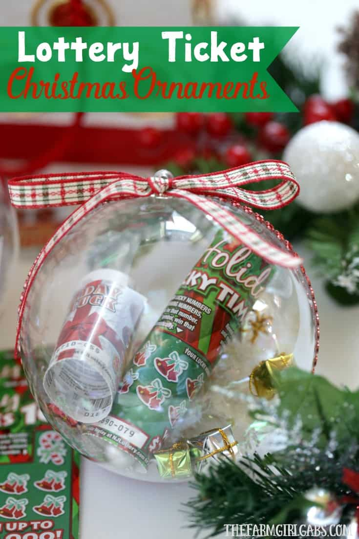 Lottery Ticket Christmas Ornaments | The Farm Girl Gabs®