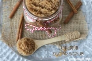 Give the gift of pampering this holiday with this easy DIY Cinnamon Sugar Scrub!