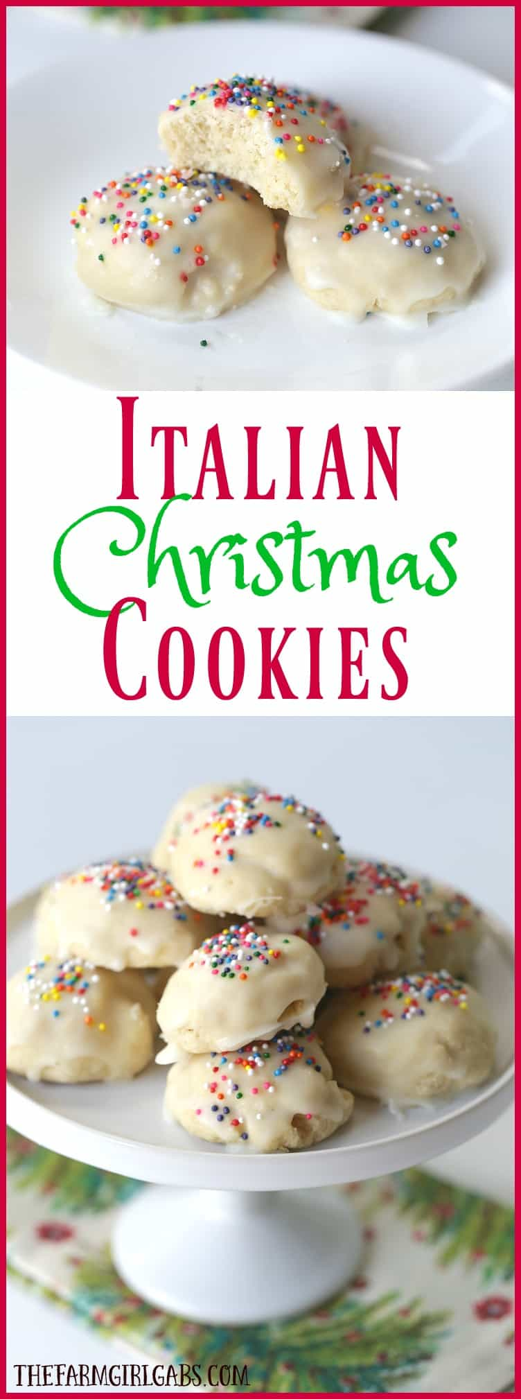 italian christmas cookies are a delicious cake like cookie with a hint of anise and