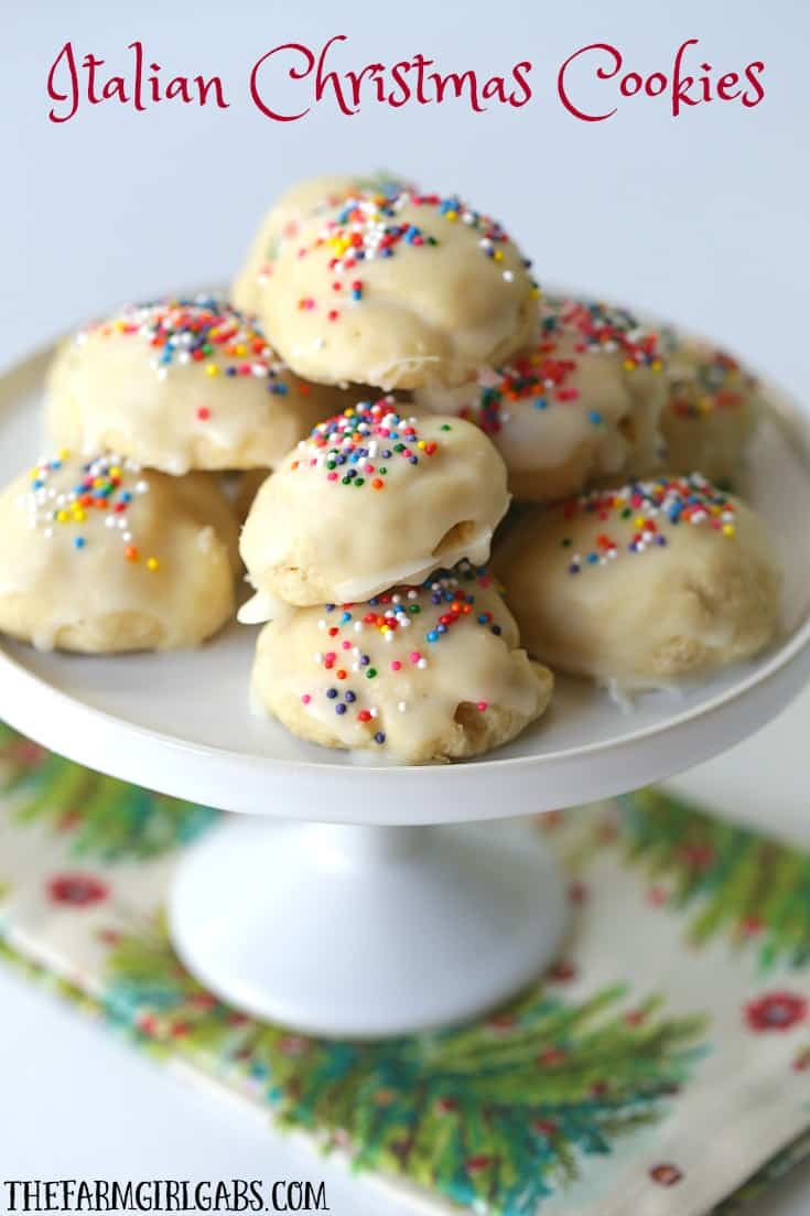 Italian Christmas Cookies are a delicious cake-like cookie with a hint of anise and sweet sugar glaze. This recipe is perfect to bake any time of the year.