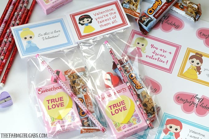 These Disney Princess Valentine Treat Bags Are A Fun Idea For Kids To Hand Out