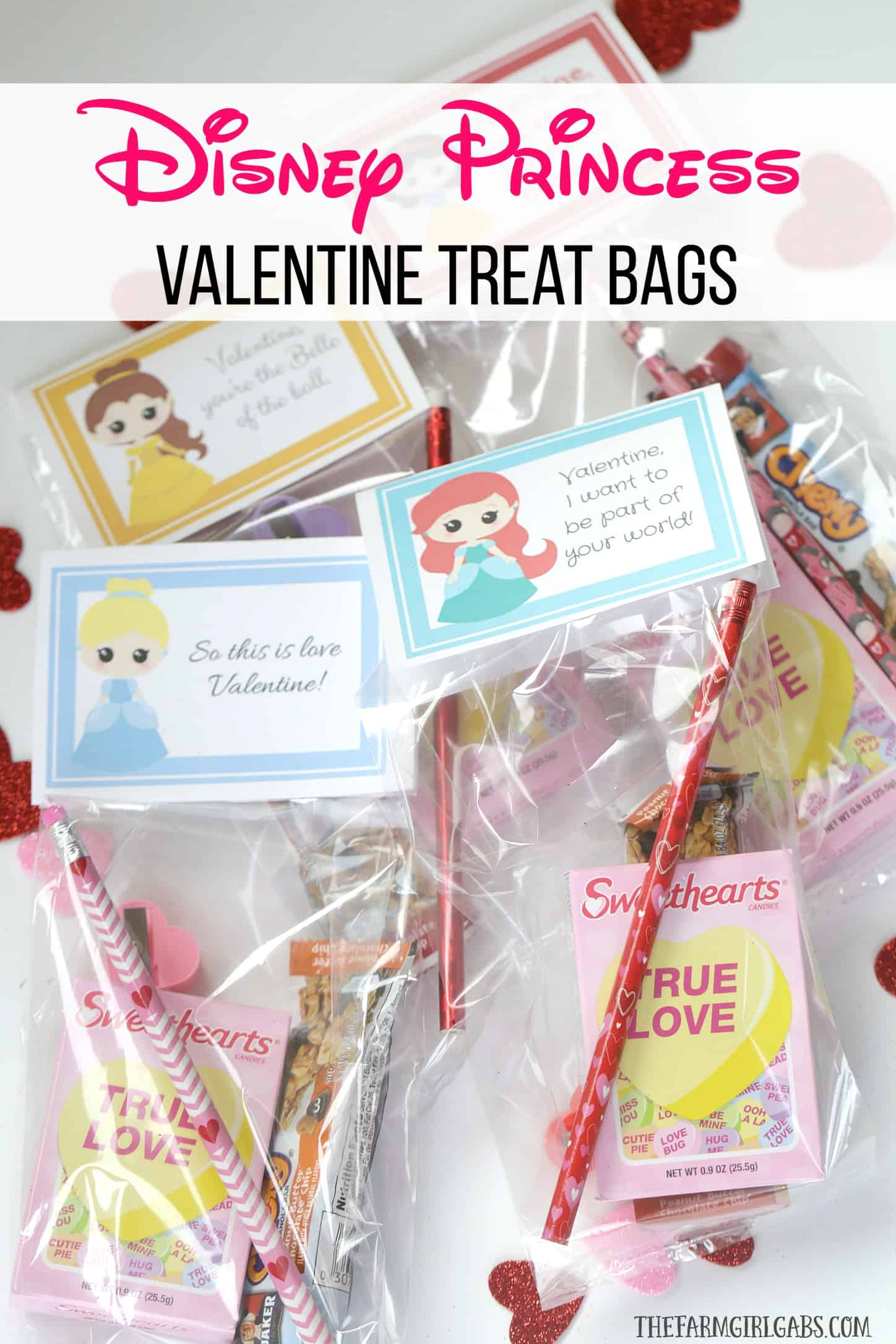 Disney Princess Valentine Treat Bags The Farm Girl Gabs