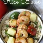This Hawaiian Shrimp Rice Bowl is a flavorful and simple 30-Minute meal. Full of Polynesian flavors, Rice Bowl is a winner. #StirUpTheFun #Ad