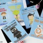 Printable Star Wars Classroom Valentine Cards