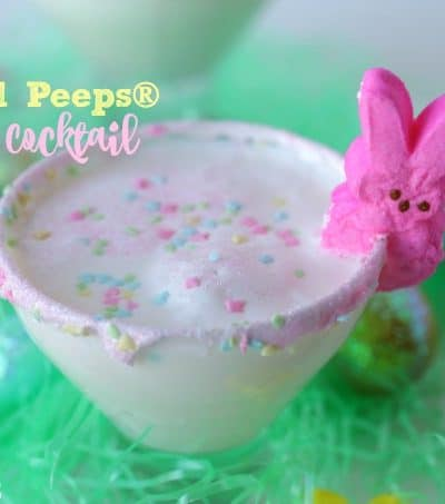 "As you hang with your ""peeps"" this Easter holiday, serve up a Buzzed Peeps Easter Cocktail and toast all the good things."