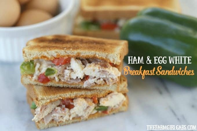 Make Ahead Ham And Egg White Breakfast Sandwiches