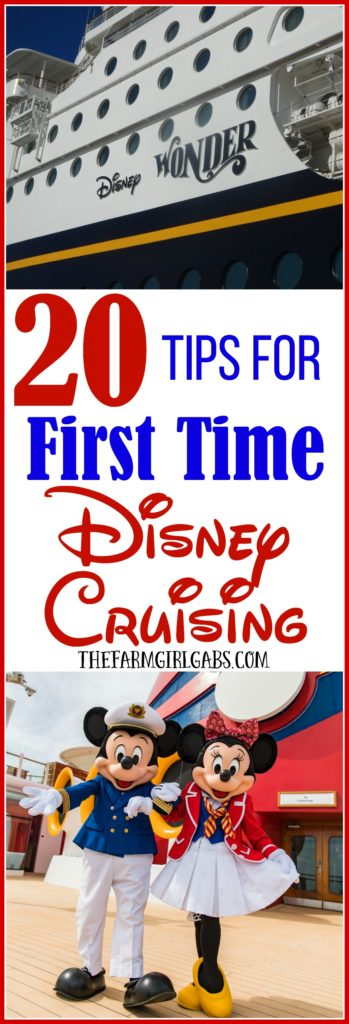 Ready to set sail on your first Disney cruise? Before you cast off, check out these 20 Tips For First Time Disney Cruising. #DisneyCruise #Travel #packingTips #TravelTips