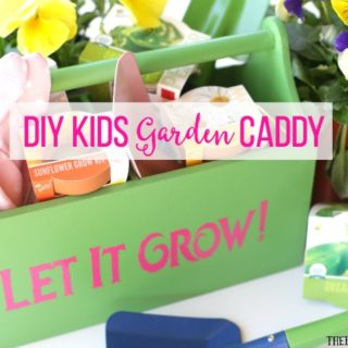 "Your kids will really ""dig"" this DIY Kids Gardening Caddy. It's perfect for carrying their gardening tools. It also makes a great gift idea."