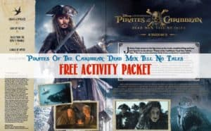 Pirates of the Caribbean Dead Men Tell No Tales Activity Packet