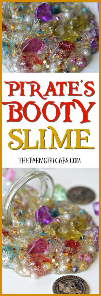 I bet Captain Jack Sparrow will go crazy for this Pirate's Booty Slime it has the perfect amount of gold and gems. Making slime is a fun craft activity for kids and adults. Savvy?