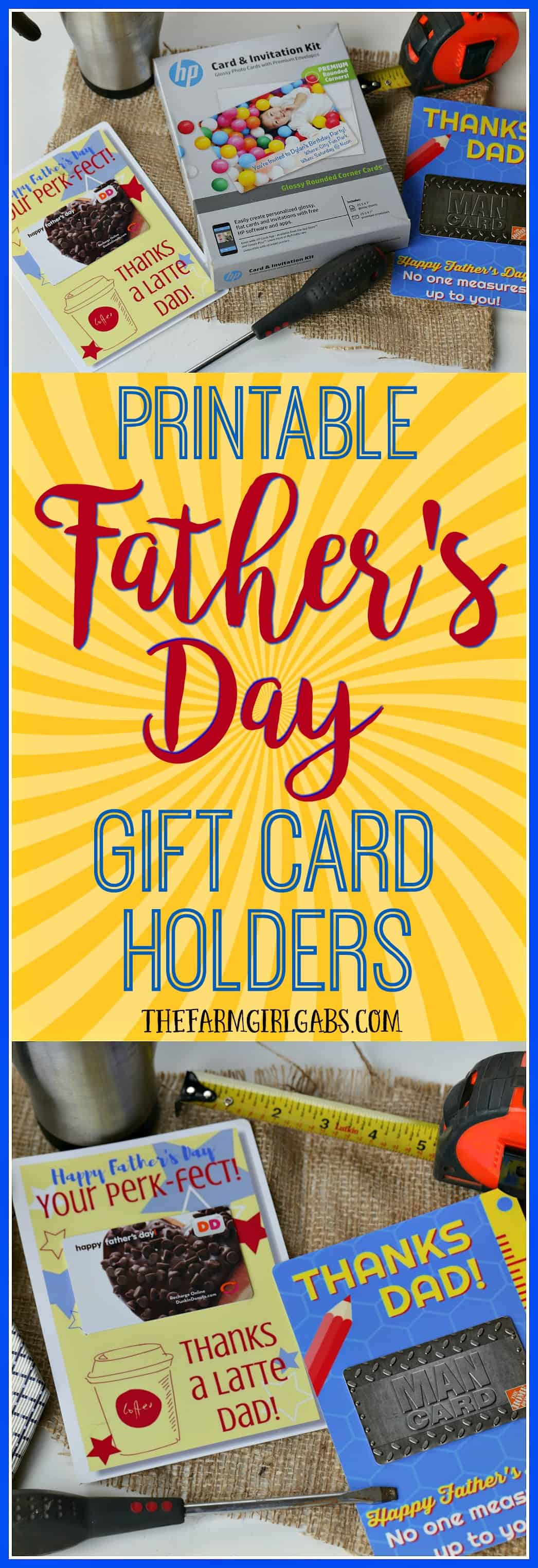Treat dad to something special this Father's Day. These Printable Father's Day Gift Card Holders are the perfect gift idea!