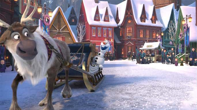 Here's a sneak peek at Olaf's Frozen Adventure which debuts ahead of Pixar's Coco on November 22, 2017. #OlafsFrozenAdventure #Coco