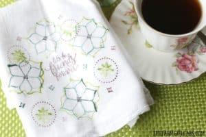 Stamped Friendship Tea Towel