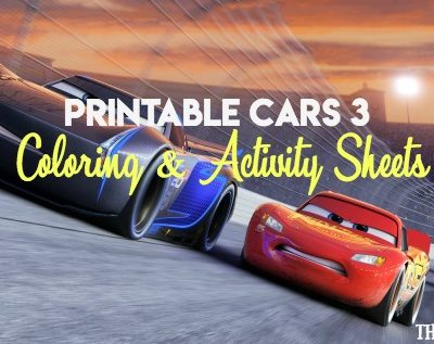 Cure summer boredom with the printable Cars 3 Coloring And Activity Sheets.
