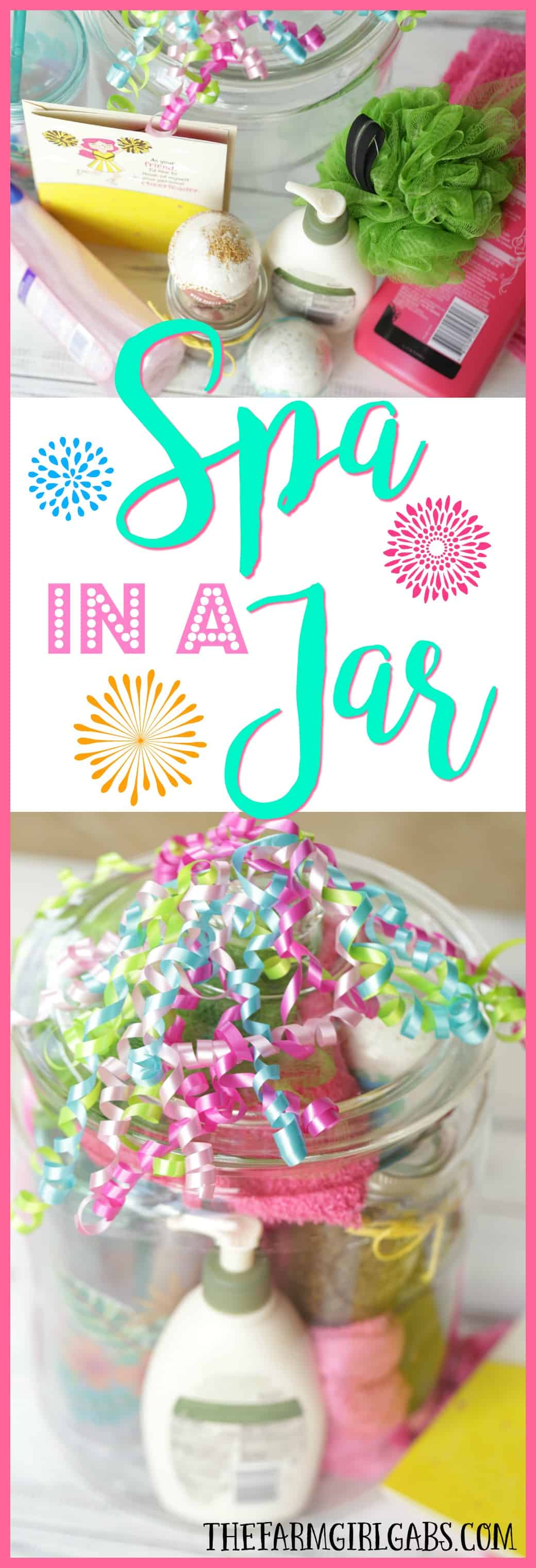 Celebrate that special friend in your life by giving them a Spa In A Jar. This jar has all the essentials they need for the perfect pampering spa day at home - along with a DIY Coffee Sugar Scrub you can make and include. #Ad #CelebrateAllSummer