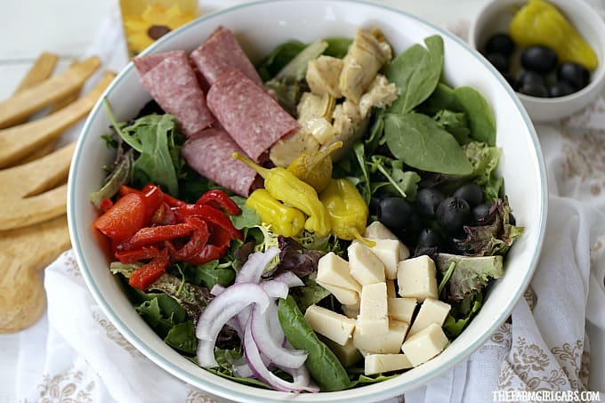 Why save this Easy Antipasto Salad for a special occasion? It's an easy Italian salad recipe that can be enjoyed anytime.