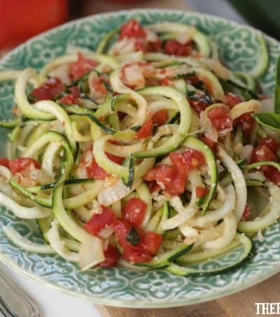Turn that ordinary zucchini growing in your garden into this healthy and delicious Zesty Parmesan Zucchini Noodles.