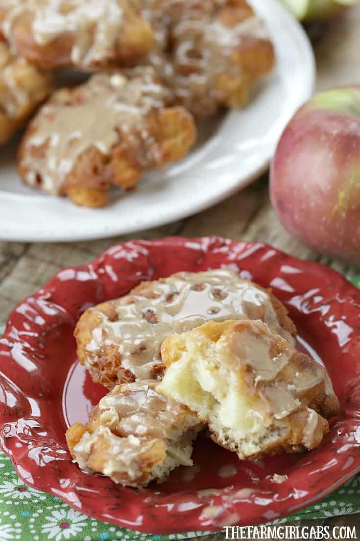 Fall is a perfect time to whip up a batch of these delicious Cinnamon Glazed Apple Fritters.