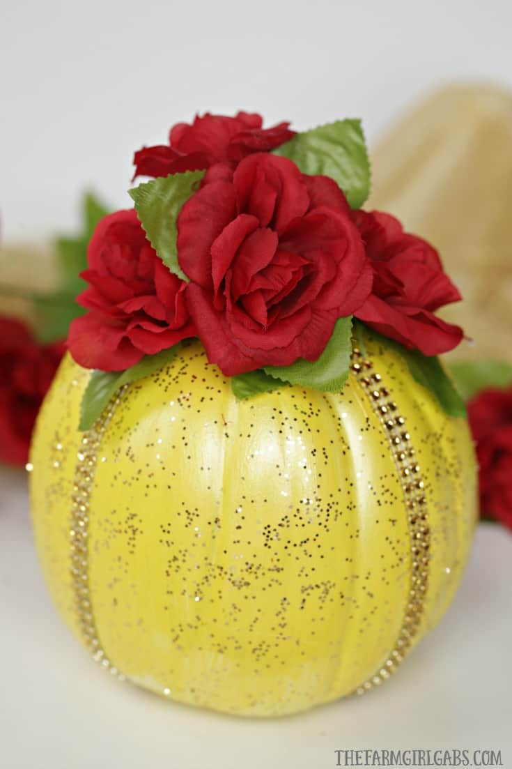 This enchanting Disney Beauty And The Beast Pumpkin is a perfect way to celebrate Halloween a tale as old as time. This is the perfect Disney Halloween craft for Disney fans.