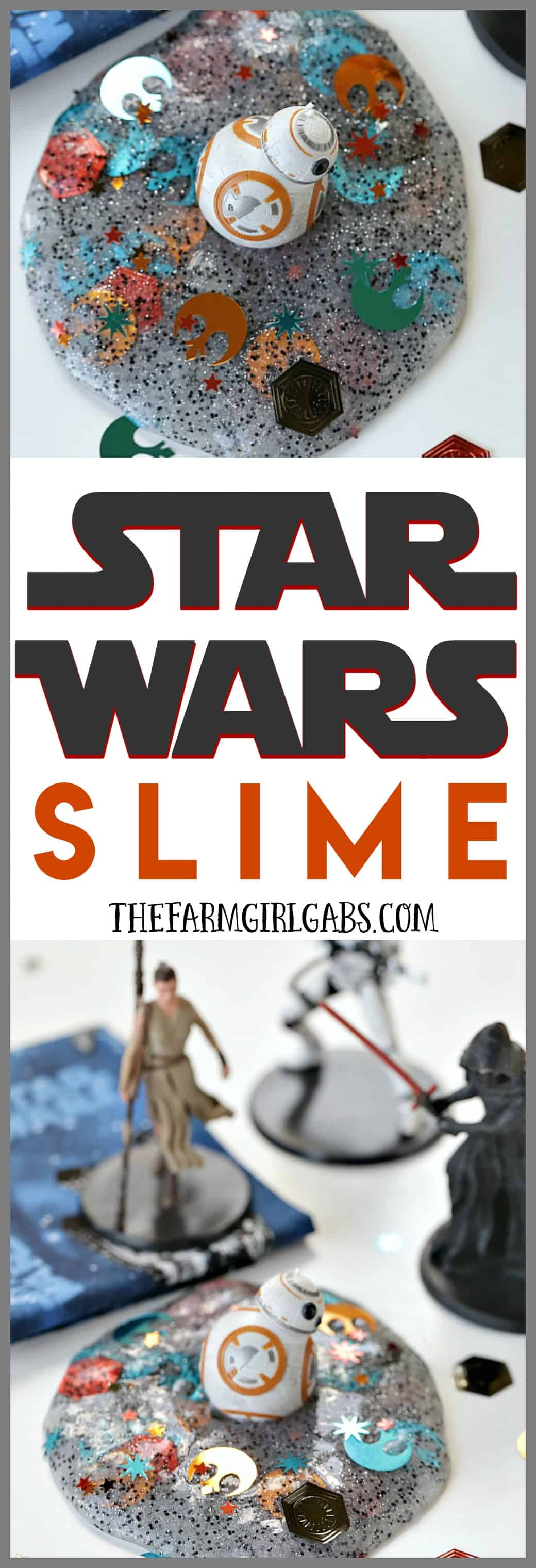 The force is strong with this slime project! You'll rule the galaxy with this easy DIY Star Wars Slime. #StarWarsCraft #TheLastJedi #Disney #StarWars #DisneyCraft #Slime #SlimeRecipe #Crafts #DIY