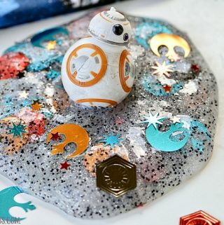 The force is strong with this slime project! No matter which side you're on, you'll rule the galaxy with this easy DIYStar Wars Slime.