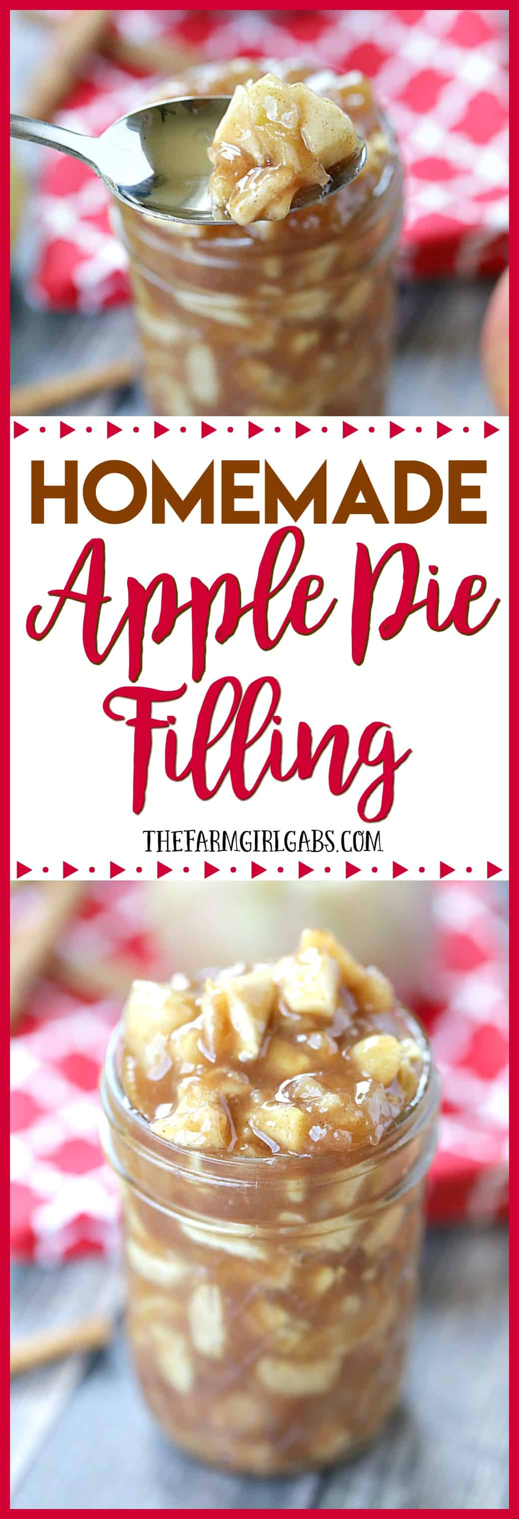 There is nothing as classic as good old apple pie. Make thisHomemade Apple Pie Filling and store in your pantry so you can whip up an apple pie anytime. #applepie #dessert #pierecipes