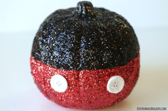 Mickey Mouse Glitter Pumpkin