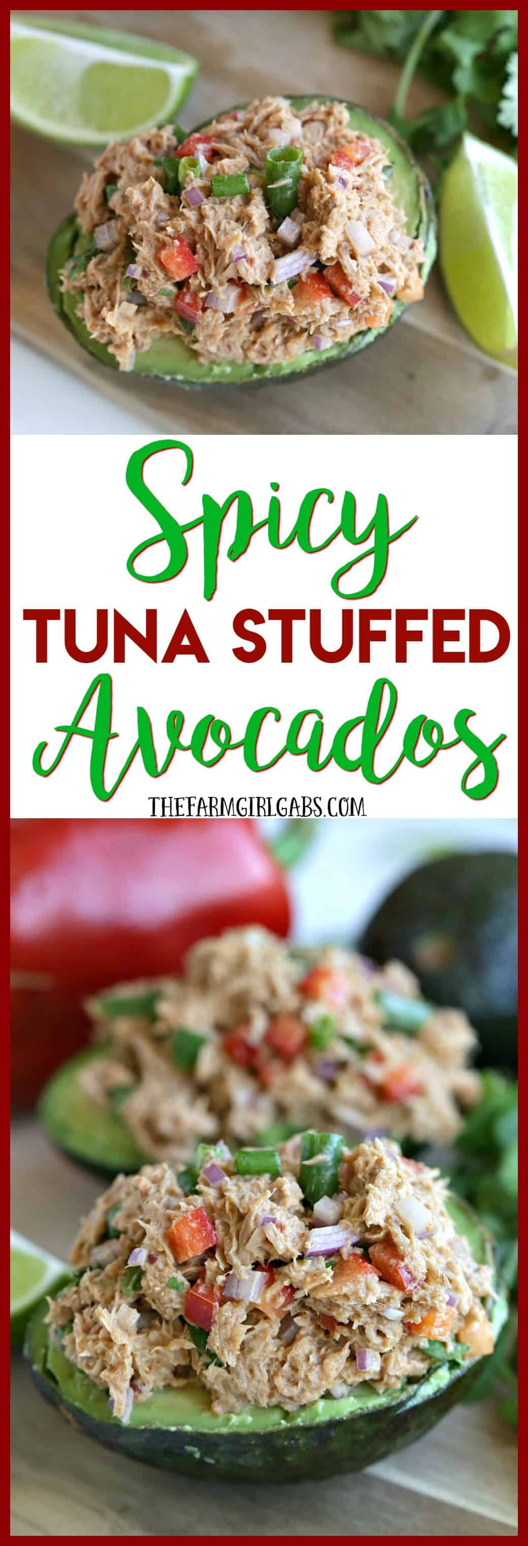 Bold & Balanced. This Spicy Tuna Stuffed Avocados recipe has plenty of bold flavor balanced by the cool avocado. Add some zip to your lunch or dinner menu with this easy recipe. #TearEatGo #Ad
