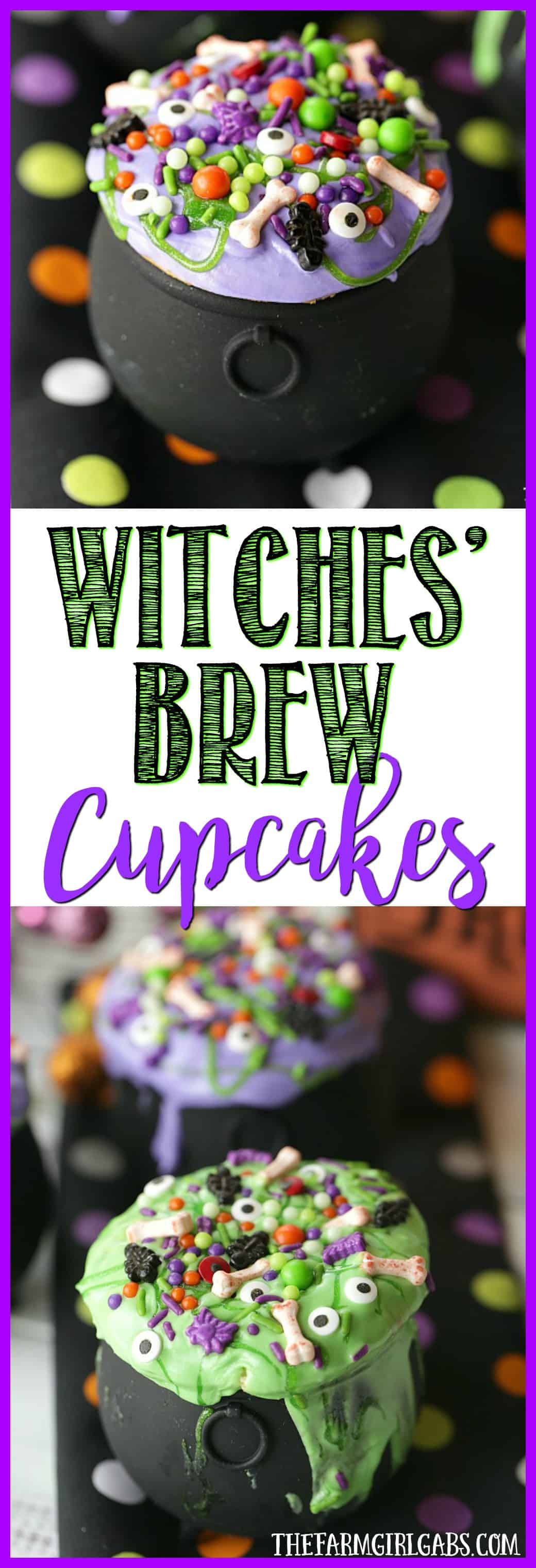 Double, double, toil and trouble. These Witches' Brew Cupcakes are the perfect Halloween treat. These bewitching cupcakes are perfect for a Halloween party.