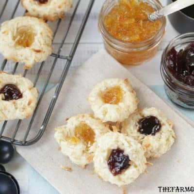 Soft and chewy, these Coconut Thumbprint Cookies are a great addition to your Christmas Cookie recipe routine.