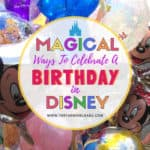 Magical Ways To Celebrate A Birthday At Walt Disney World