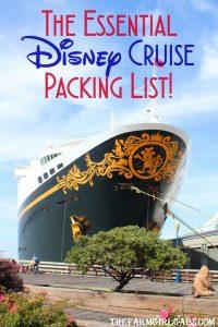 Before you set sail on a Disney Cruise, download this free printable Essential Disney Cruise Packing List. #DisneyCruise #WaltDisneyWorld #CruisePackingList #FamilyTravel #PackingTips