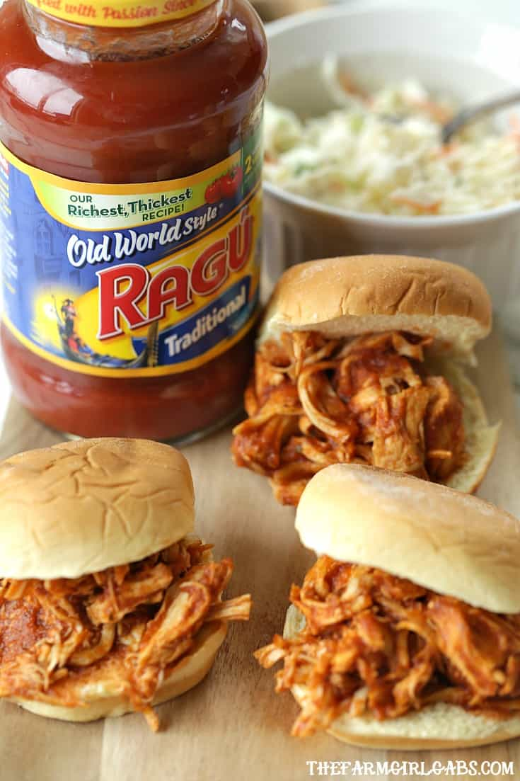 Are you game-day ready? These Shredded BBQ Chicken Sliders are perfect for your big game football party! #BigGameBB #sandwiches #sliders #football #ad