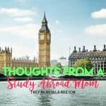 Thoughts From A Study Abroad Mom