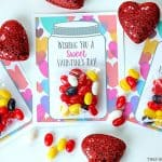 Your kids will have a sweet Valentine's Day making these adorable Sweet Candy Jar Valentines for their friends.