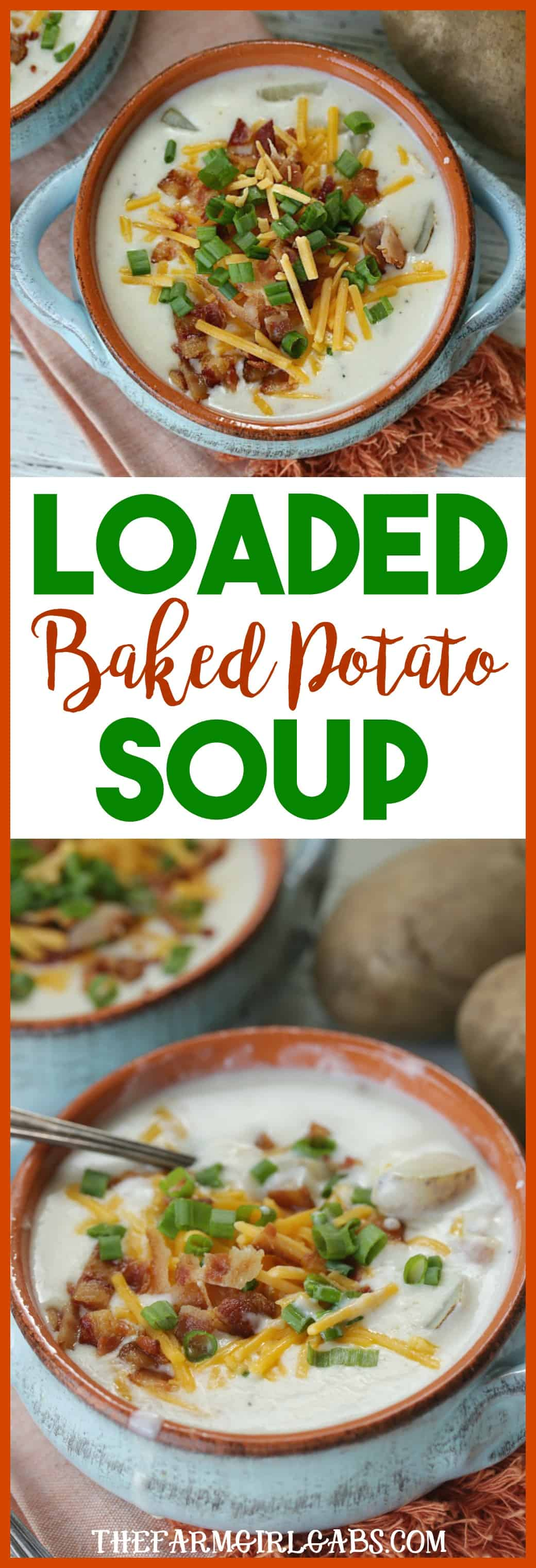 You won't be able to resist the soul-soothing comfort of this delicious Loaded Baked Potato Soup recipe. #Soup #BakedPotatoSoup #Recipe #ComfortFood #LoadedBakedPotatoSoup #SoupRecipe
