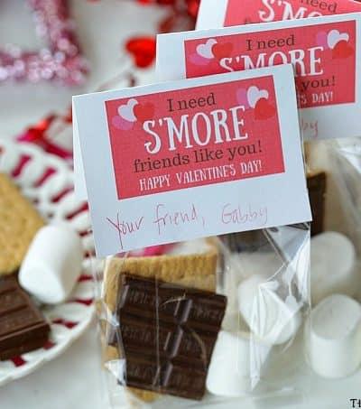 S'Mores Valentine Treat Bags