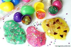 Easter Egg Glitter Slime Party Favors