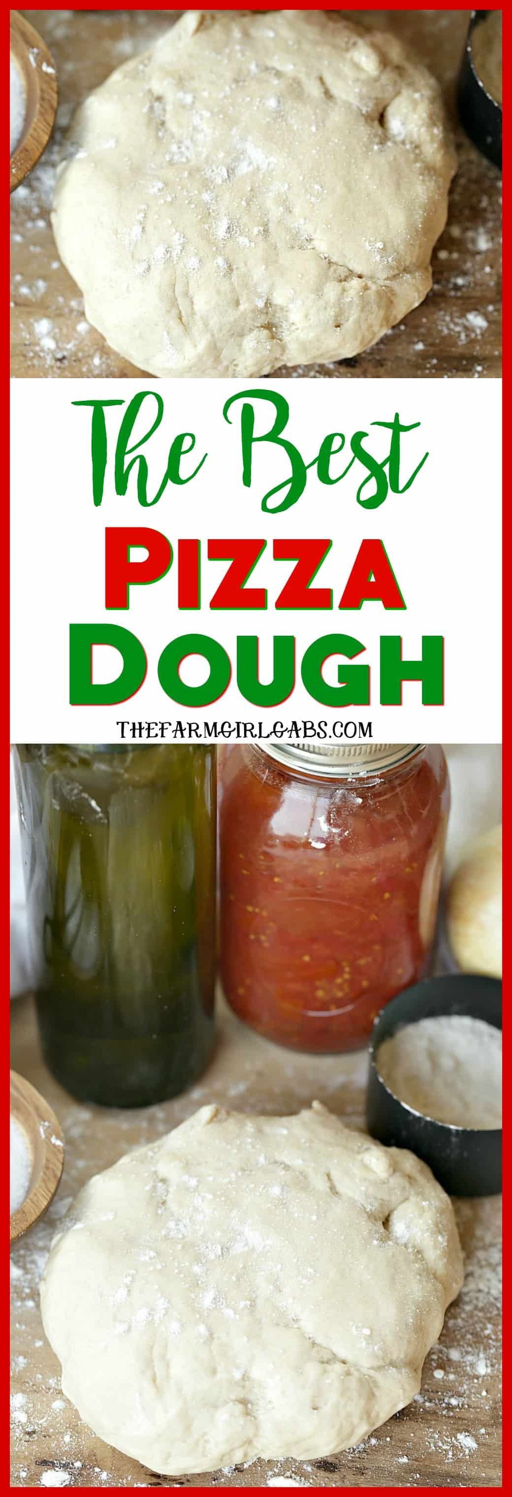 With a few simple ingredients, the Best Pizza Dough recipe is perfect for pizza night in your home! #pizza #pizzadough #recipe #maindish #snacks