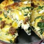 Hatfield Sausage, Spinach & Feta Frittata