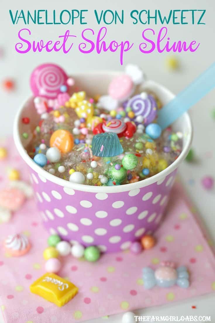 Kids will love creating some sticky fun with this Vanellope von Schweetz Sweet Shop Slime recipe.