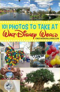 Ready for the ultimate Disney Photo Bucket List? I gathered some Disney photograph inspiration with these 101 Photos To Take At Walt Disney World. #WaltDisneyWorld #Disneyland #Disney #FaimilyTravel #Disneytravel #Disneyvacation #travelideas