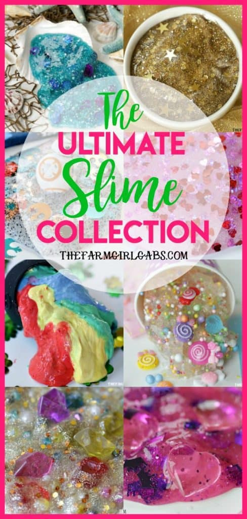 The Ultimate Collection of Slime Recipes on The Farm Girl Gabs. #slime #slimerecipe #DisneyCraft #KidsCraft #Crafts #SummerCraft