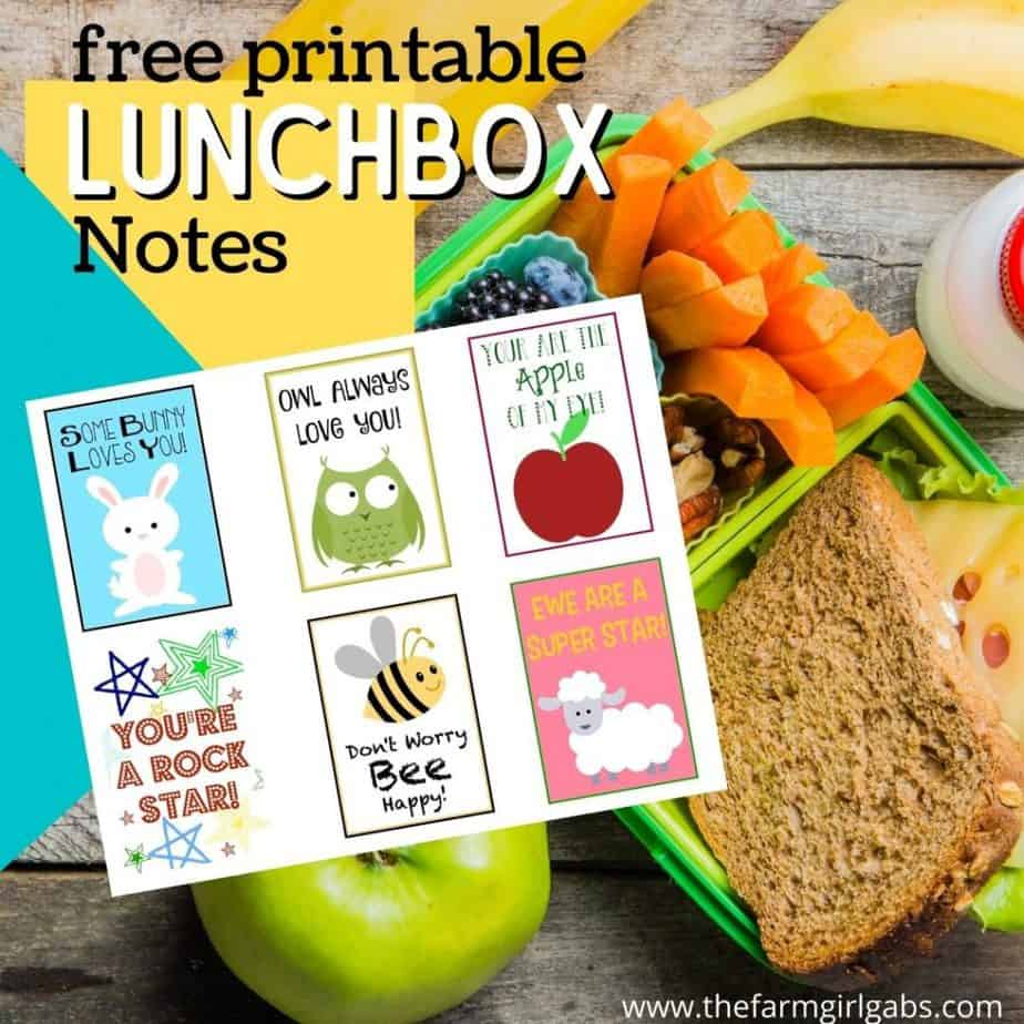 printable lunchbox notes for kids