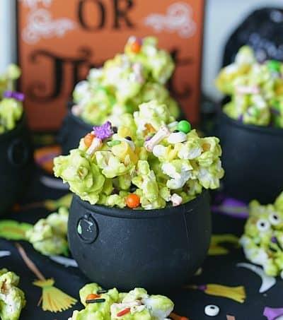 Halloween Cauldron Corn