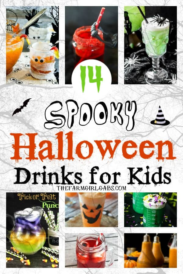 Have a bewitching time at your Halloween party with one of these 14 Spooky Halloween Drinks For Kids. #Halloween #HalloweenDrinks #HalloweenParty #KidsREcipes #Drinks