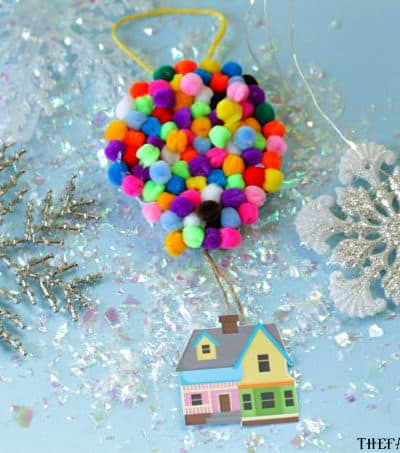 Adventure is out there! This Christmas, Make Your Own UP Disney Christmas Ornament. This easy craft is perfect for fans of the Disney Pixar movie UP! #UP #Pixar #DisneyCrafts #ChristmasOrnament #Disney #ChristmasTree #ChristmasDecoration